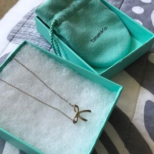 Tiffany & Co. Sterling Bow Necklace